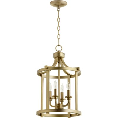 Lancaster Entry 4-Light Foyer Pendant Finish: Aged Brass