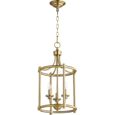 Rossington Entry 3-Light Foyer Pendant Finish: Aged Brass