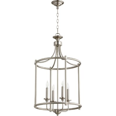 Rossington Entry 4-Light Foyer Pendant Finish: Satin Nickel
