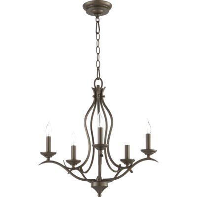 Flora Fall 5-Light Candle-Style Chandelier Finish: Oiled Bronze