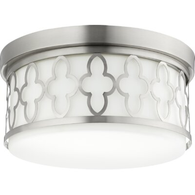 Quatrefoil 3-Light Flush Mount Finish: Satin Nickel
