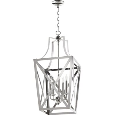 Trap Entry 5-Light Foyer Pendant Finish: Polished Nickel