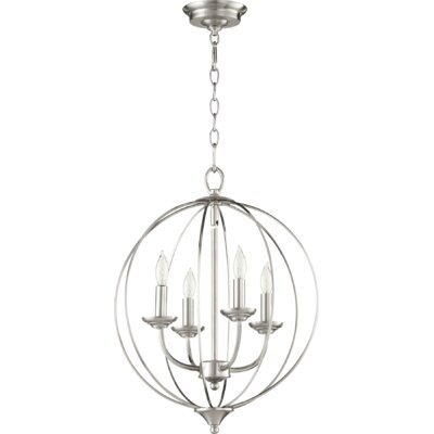 Harnois 4-Light Globe Pendant Finish: Satin Nickel