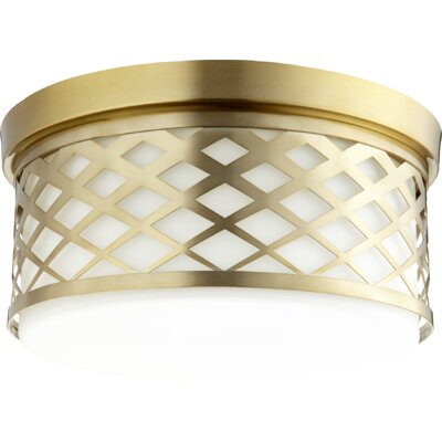 Tommy 3-Light Flush Mount Finish: Aged Brass