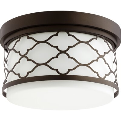 Trellis 2-Light Flush Mount Finish: Oiled Bronze