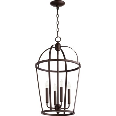 Mitre Entry 4-Light Foyer Pendant Finish: Oiled Bronze