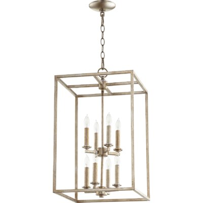 Cuboid Entry 8-Light Foyer Pendant Finish: Aged Silver Leaf