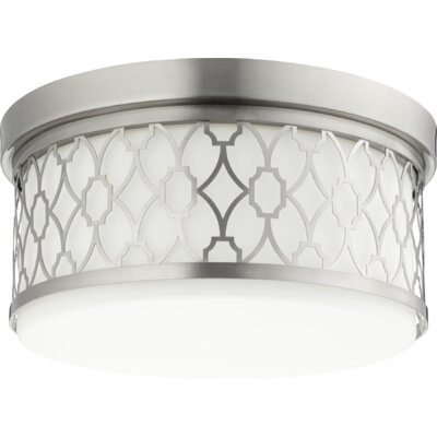 Geometric 3-Light Flush Mount Finish: Satin Nickel