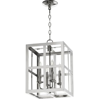Cuboid II Entry 4-Light Foyer Pendant Finish: Polished Nickel