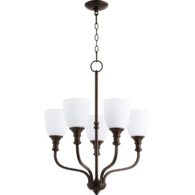 Falbo 5-Light Shaded Chandelier Finish: Oiled Bronze