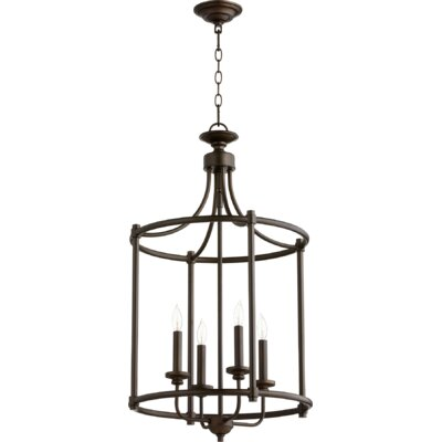 Rossington Entry 4-Light Foyer Pendant Finish: Oiled Bronze