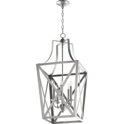Trap Entry 5-Light Foyer Pendant Finish: Satin Nickel