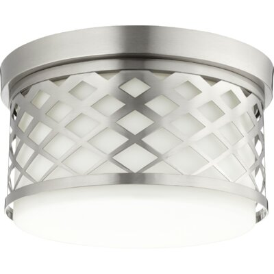 Tommy 2-Light Flush Mount Finish: Satin Nickel