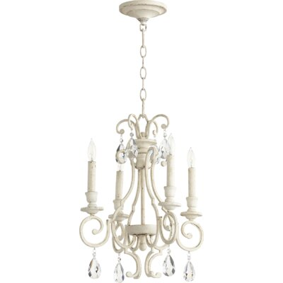 Ansley 4-Light Candle-Style Chandelier Finish: Persian White