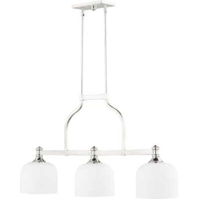 Falbo 3-Light Kitchen Island Pendant Finish: Polished Nickel