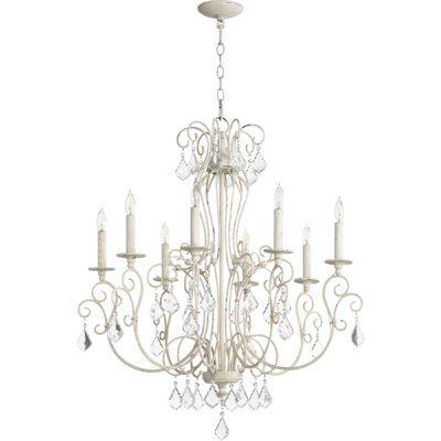 Ariel 8-Light Candle-Style Chandelier Finish: Persian White
