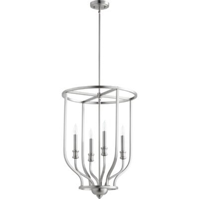Falbo 4-Light Foyer Pendant Finish: Satin Nickel