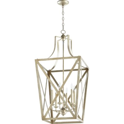 Trap Entry 6-Light Foyer Pendant Finish: Aged Silver Leaf