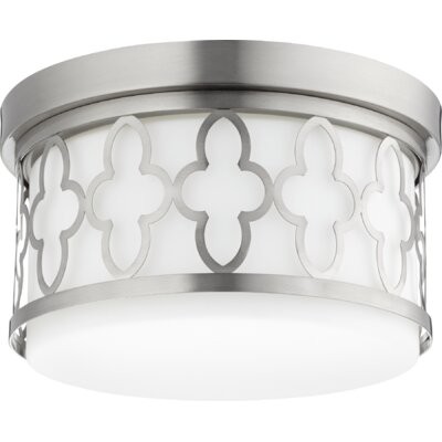 Quatrefoil 2-Light Flush Mount Finish: Satin Nickel