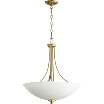 Reyes 4-Light Pendant Finish: Aged Brass