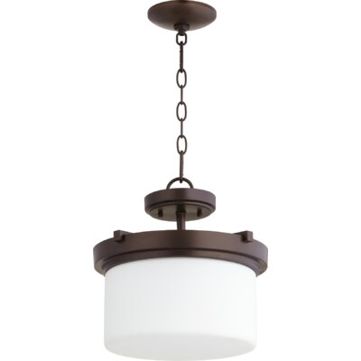 Lancaster 2-Light Drum Pendant Finish: Oiled Bronze