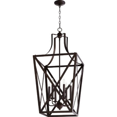 Trap Entry 6-Light Foyer Pendant Finish: Oiled Bronze