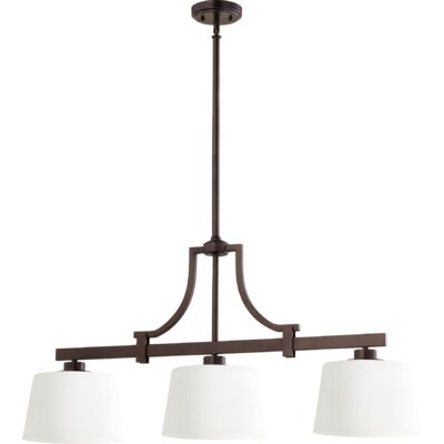 Lancaster 3-Light Kitchen Island Pendant Finish: Oiled Bronze