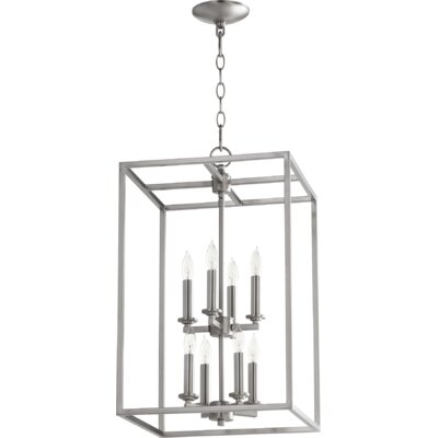 Cuboid Entry 8-Light Foyer Pendant Finish: Satin Nickel