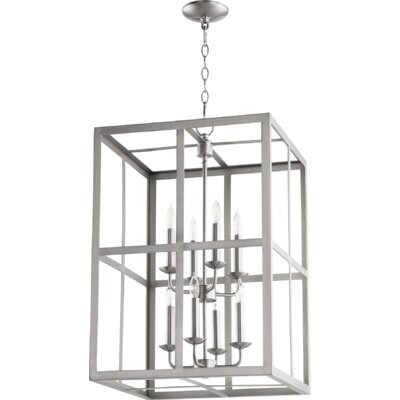 Cubiod II Entry 8-Light Foyer Pendant Finish: Satin Nickel