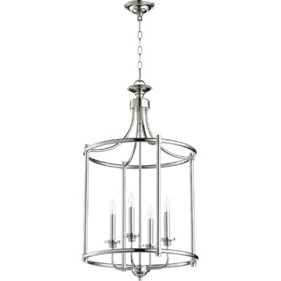 Rossington Entry 4-Light Foyer Pendant Finish: Polished Nickel