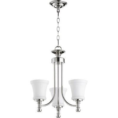 Rossington 3-Light Shaded Chandelier Finish: Polished Nickel