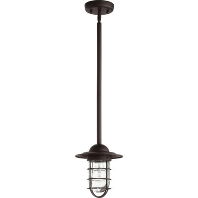 Bowery 1-Light Mini Pendant Finish: Oiled Bronze