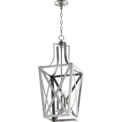 Trap Entry 3-Light Foyer Pendant Finish: Satin Nickel