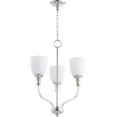 Richmond 3-Light Shaded Chandelier Finish: Polished Nickel