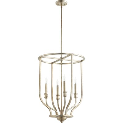 Richmond Entry 4-Light Foyer Pendant Finish: Aged Silver Leaf