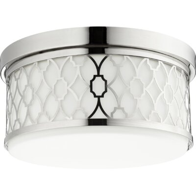 Geometric 3-Light Flush Mount Finish: Polished Nickel