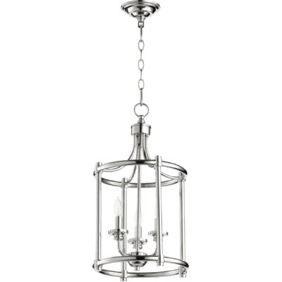 Rossington Entry 3-Light Foyer Pendant Finish: Polished Nickel