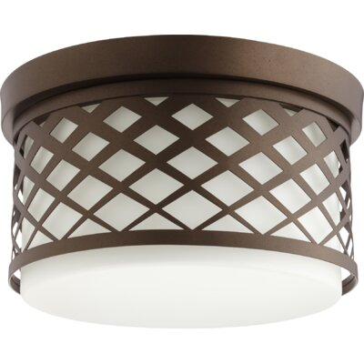 Tommy 2-Light Flush Mount Finish: Oiled Bronze