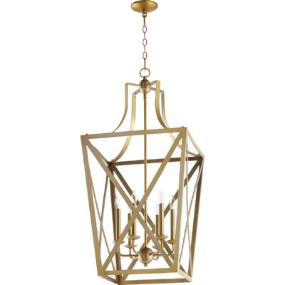 Trap Entry 6-Light Foyer Pendant Finish: Aged Brass