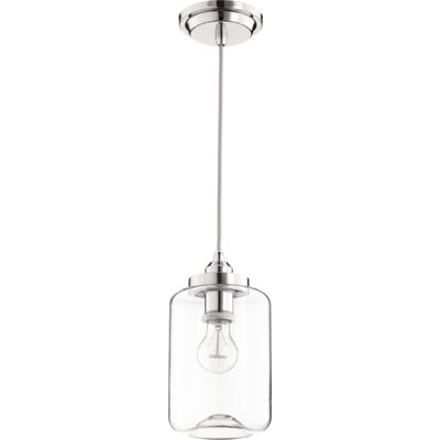 Filament 1-Light Mini Pendant Finish: Polished Nickel, Size: 10.75 H x 5.75 W