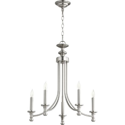 Rossington 5-Light Candle-Style Chandelier Finish: Satin Nickel