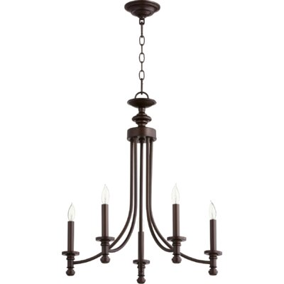 Rossington 5-Light Candle-Style Chandelier Finish: Oiled Bronze