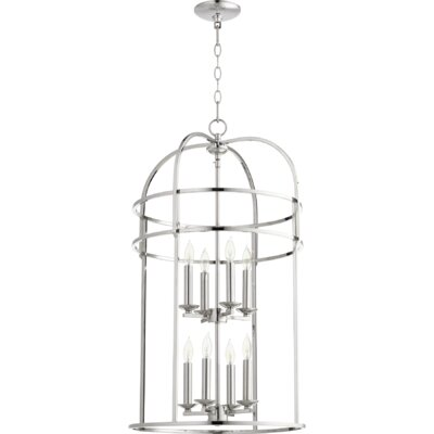 Toque Entry 8-Light Foyer Pendant Finish: Polished Nickel