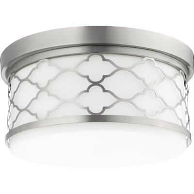 Trellis 3-Light Flush Mount Finish: Satin Nickel