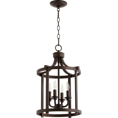 Lancaster Entry 4-Light Foyer Pendant Finish: Oiled Bronze
