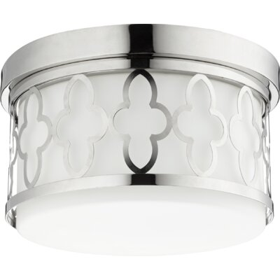 Quatrefoil 2-Light Flush Mount Finish: Polished Nickel