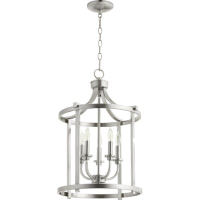 Lancaster Entry 5-Light Foyer Pendant Finish: Satin Nickel