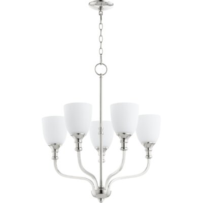 Falbo 5-Light Shaded Chandelier Finish: Polished Nickel