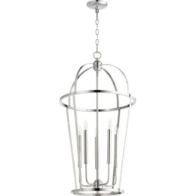 Mitre Entry 5-Light Foyer Pendant Finish: Polished Nickel