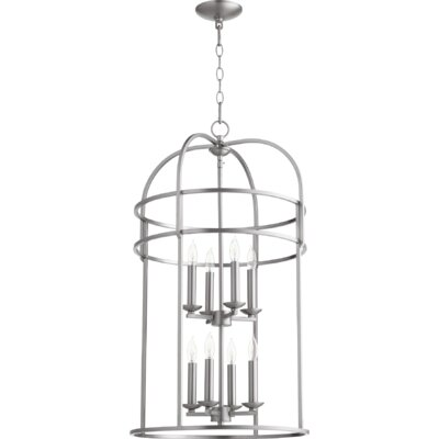 Toque Entry 8-Light Foyer Pendant Finish: Satin Nickel